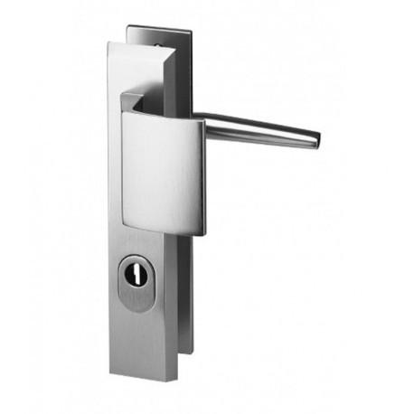 Ensemble plaque porte pali re cylindre prot g alpha aluminium argent 210 doortools poign es - Cylindre de porte ...