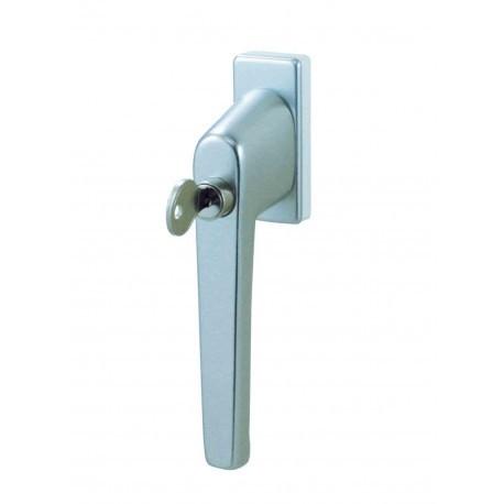 Poignée De Fenêtre A Cylindre Cle Aluminium Argent Doortools